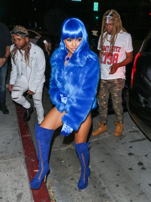 Karrueche Tran arrives to Argyl Nightclub