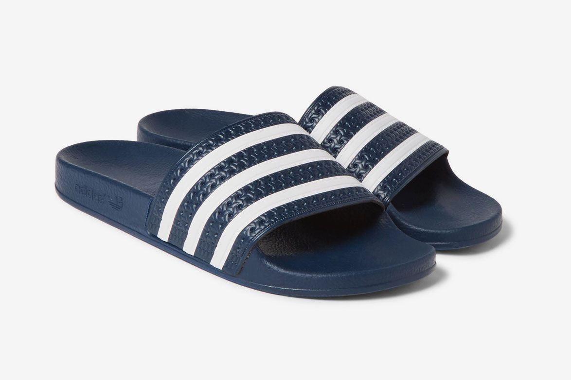 86f1a19dea2f Adidas Originals Adilette Textured-Rubber Slides