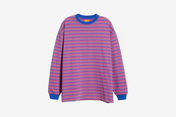 BEAMS High Gauge Stripe Sweater T-Shirt