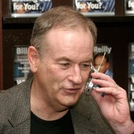 "Bill O'Reilly sign copies of ""Who's Looking Out For You ?"" February 20, 2004 at Barnes and Noble at the Grove in Los Angeles, California."