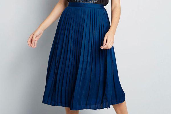 Beautifully Upbeat Midi Skirt