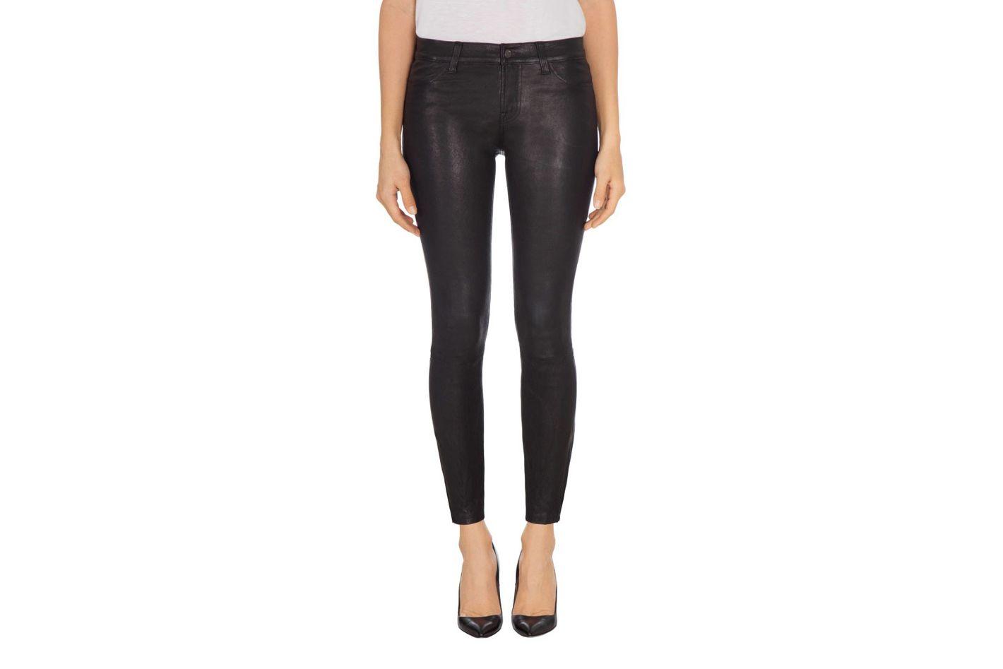 Mid-Rise Super Skinny Legging in Leather Noir