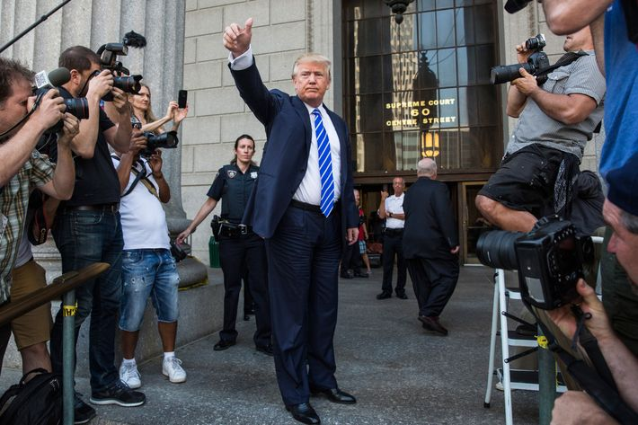 Donald Trump Reports For Jury Duty In Manhattan