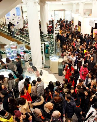 All these shoppers are probably miserable, but you didn't need a study to know that.