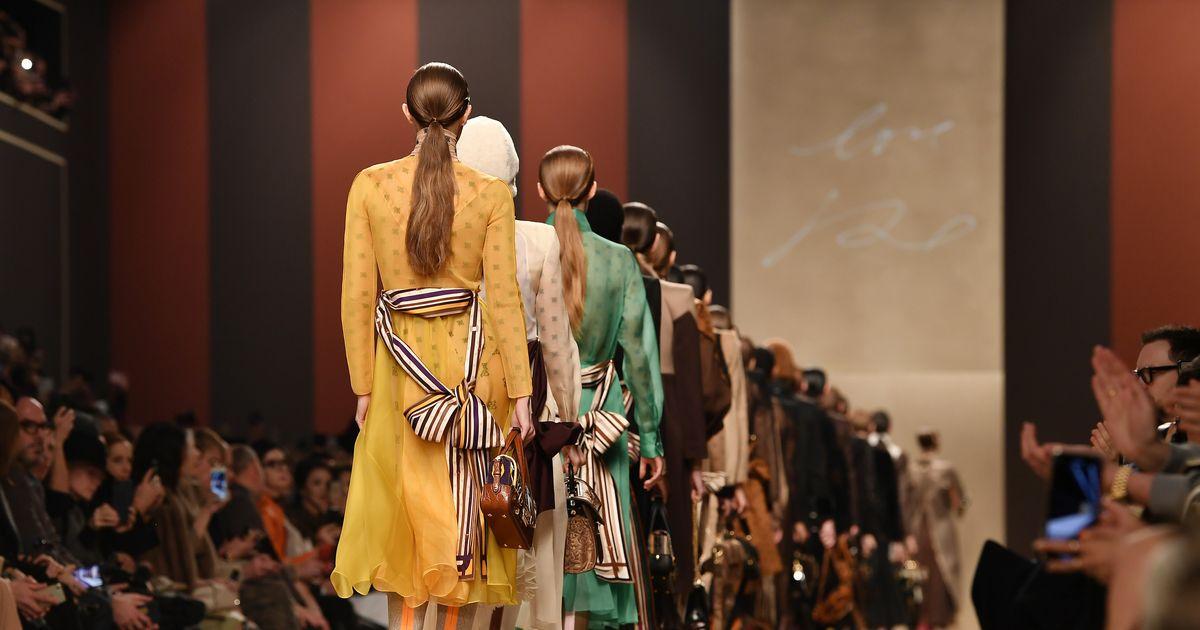 Inside Karl Lagerfeld's Final Show at Fendi