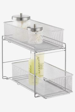 The Container Store Silver 2-Drawer Mesh Organizer