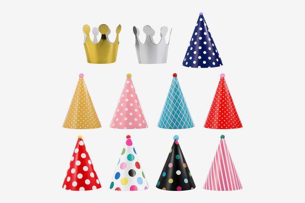 UEETEK Pet Birthday Party Cone Paper Hats, 11 Count