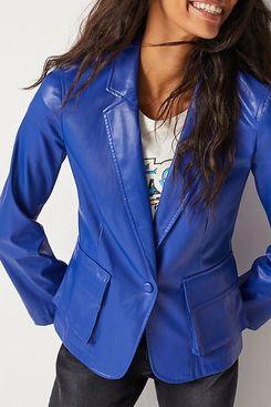 Cobie Faux Leather Blazer