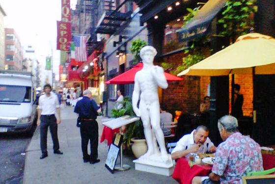 Il Piccolo Bufalo Keeps It Classy With Michelangelo's David