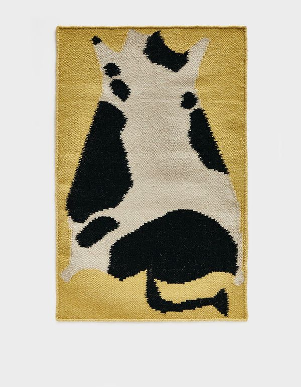 Cold Picnic 2 x 3 ft. Flatwoven Cow Rug