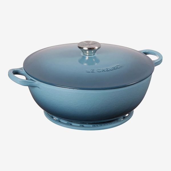 Le Creuset Enameled Cast-Iron Curved Round Chef's Oven With Silicone French Trivet