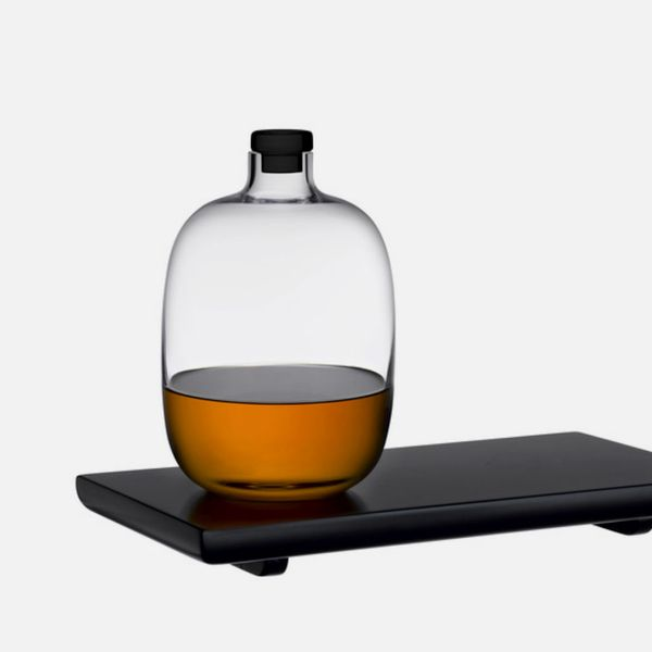 Nude Glass Whisky Bottle & Tray Set
