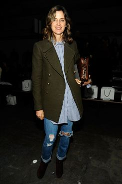 Amanda Cutter Brooks attends the Alexander Wang Fall 2012 fashion show