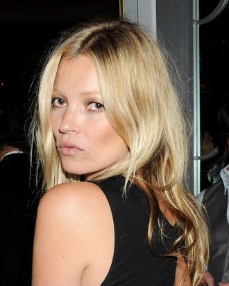 Kate Moss attends the Marie Curie Cancer Fundraiser hosted by Heather Kerzner at Claridge's Hotel on May 15, 2012 in London, England.