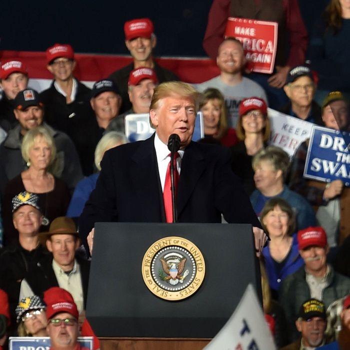 President Donald Trump in Montana.