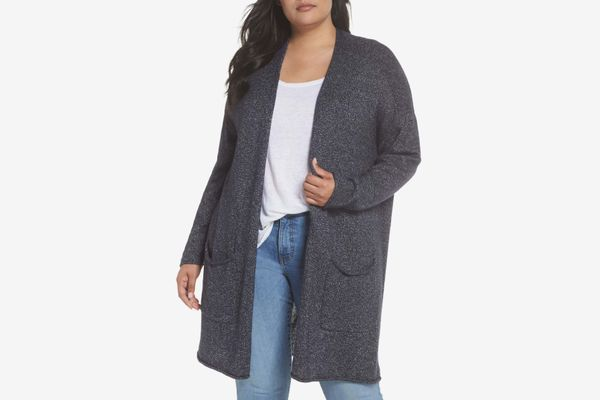 Calson Drop Shoulder Open Cardigan
