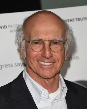 WEST HOLLYWOOD, CA - MAY 08: Actor Larry David attends the 'Fed Up' premiere held at the Pacfic Design Center on May 8, 2014 in West Hollywood, California. (Photo by Jason Merritt/Getty Images)