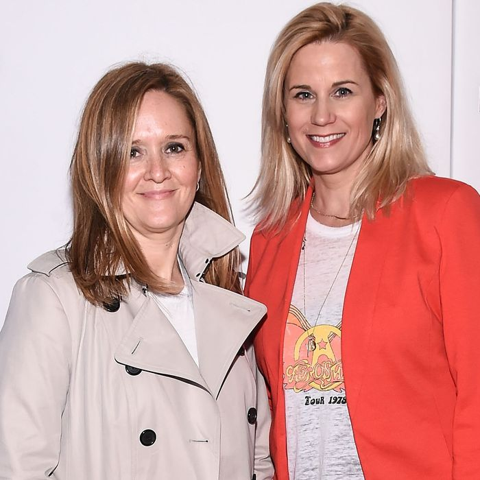 Samantha Bee and Allana Harkin.