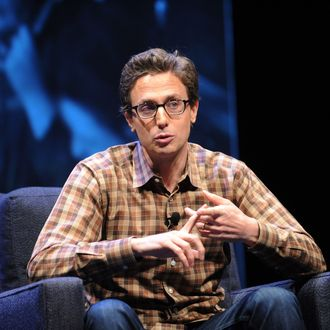 Founder and CEO of BuzzFeed, Jonah Peretti speaks at the WIRED Business Conference: Think Bigger at Museum of Jewish Heritage on May 7, 2013 in New York City.
