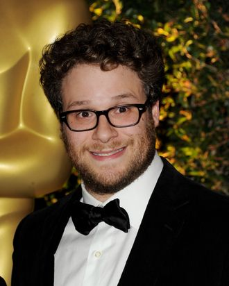 LOS ANGELES, CA - NOVEMBER 12: Actress Seth Rogan arrives at the Academy of Motion Picture Arts and Sciences' 3rd Annual Governors Awards at the Hollywood & Highland Grand Ballroom on November 12, 2011 in Los Angeles, California. (Photo by Kevin Winter/Getty Images)