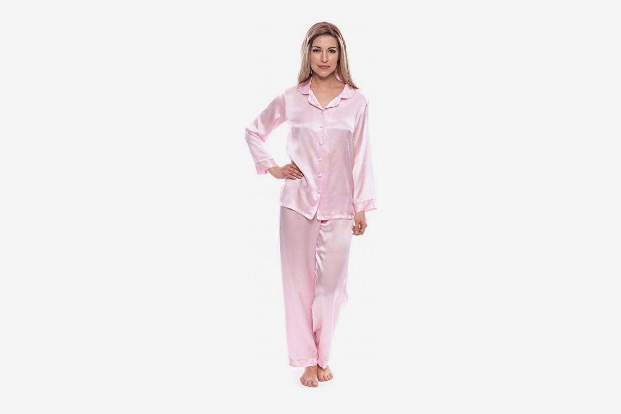 TexereSilk Women s 100% Silk Pajama Set at Amazon 2c48b1cc1