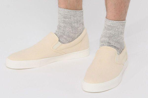 Muji Organic Cotton Mix Slub Short Socks