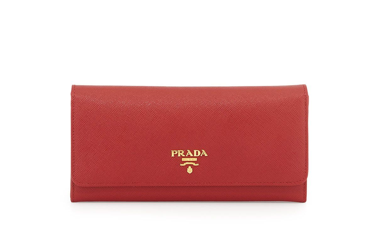 Prada Saffiano Leather Continental Flap Wallet