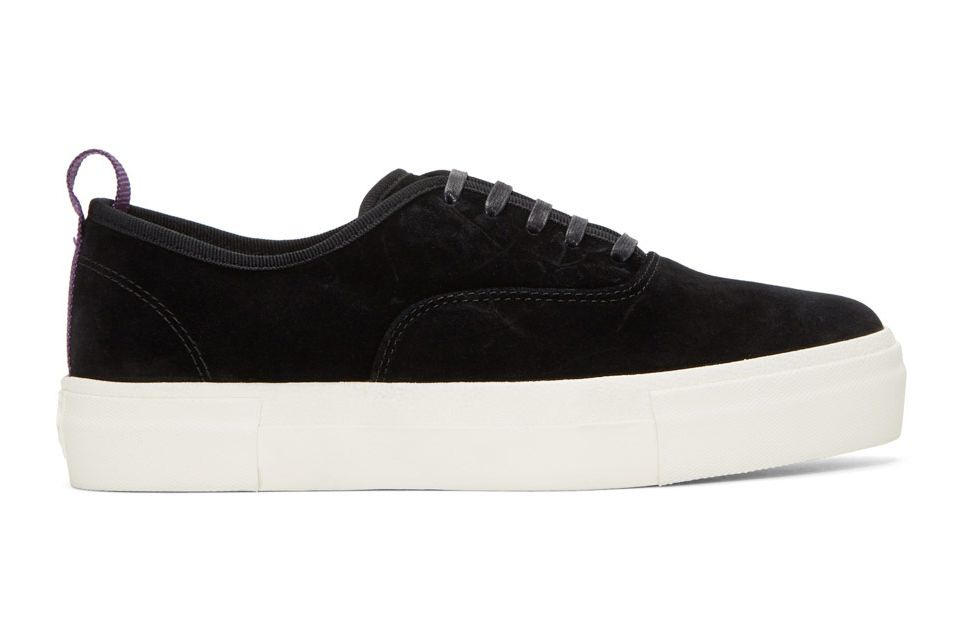 Eytys Black Suede Mother Sneakers