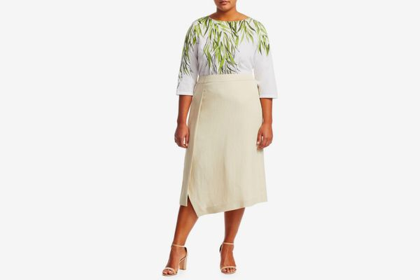 Marina Rinaldi, Plus Size Circe Linen Skirt