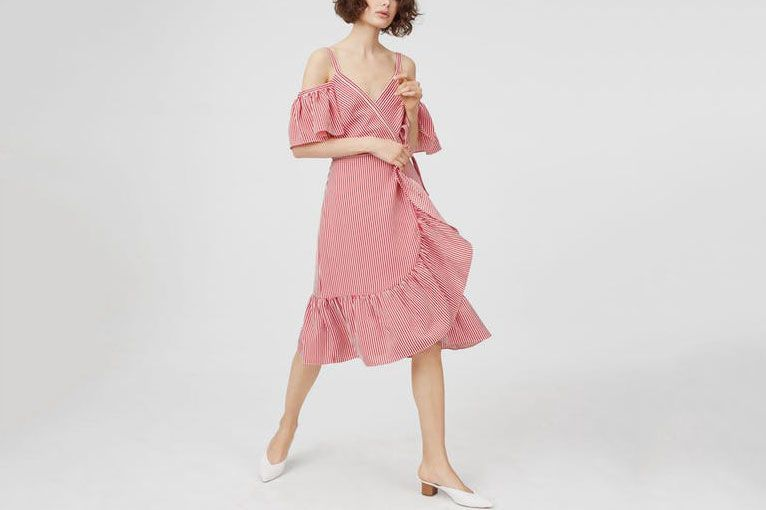 Club Monaco Daphins Wrap Dress