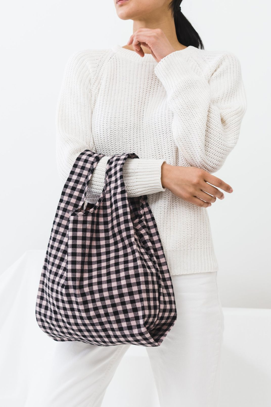 Medium Baggu Blush Gingham Canvas