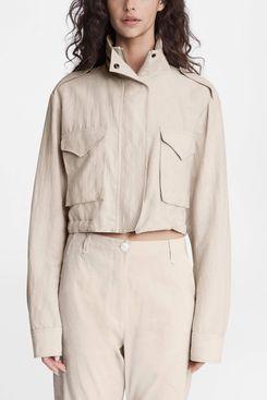 Rag & Bone M65 Cropped Linen Blend Field Jacket