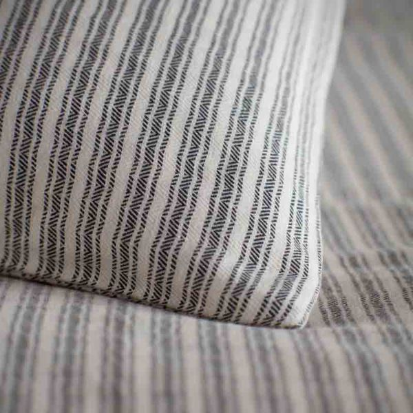 Ticking Stripe Grey Duvet Cover