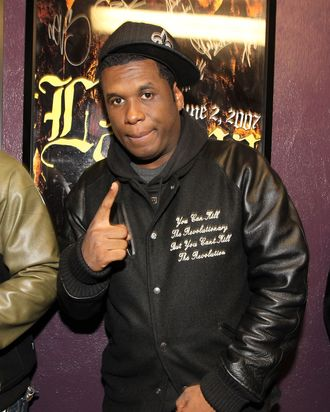 WEST HOLLYWOOD, CA - JANUARY 30: Musician Jay Electronica attends the 6th Annual Roots Jam Session at Key Club on January 30, 2010 in West Hollywood, California. (Photo by Christopher Polk/Getty Images) *** Local Caption *** Jay Electronica