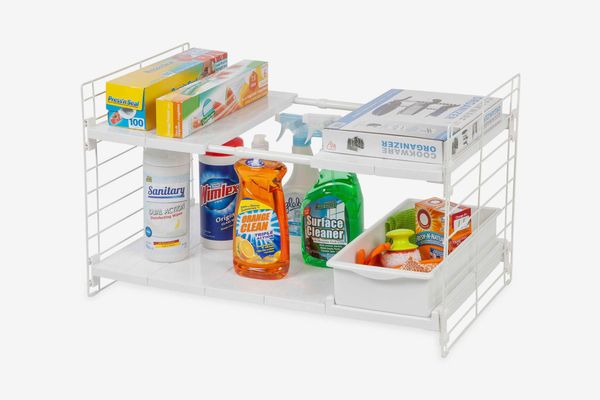 IRIS Expandable Sliding Drawer Under-sink Organizer in White