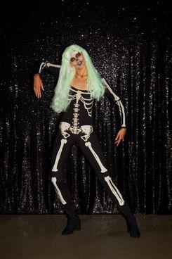 Glow-In-The-Dark Skeleton Bodysuit Halloween Costume