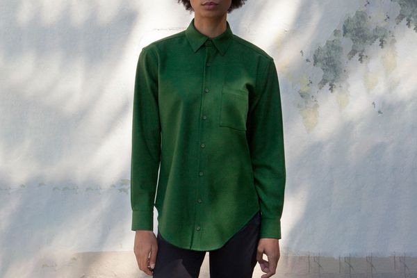 The Oxford in Exacting Green Merino Wool