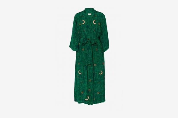 Chufy x The Luxury Collection Kaf Embroidered Wrap Dress