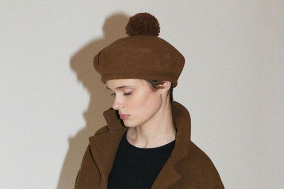 Samuji Brown Beret Hat