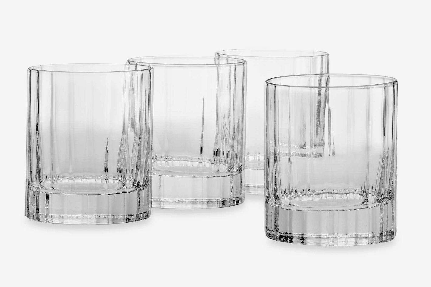 Luigi Bormioli Bach SON.hyx Double Old-Fashioned Glasses (Set of 4)