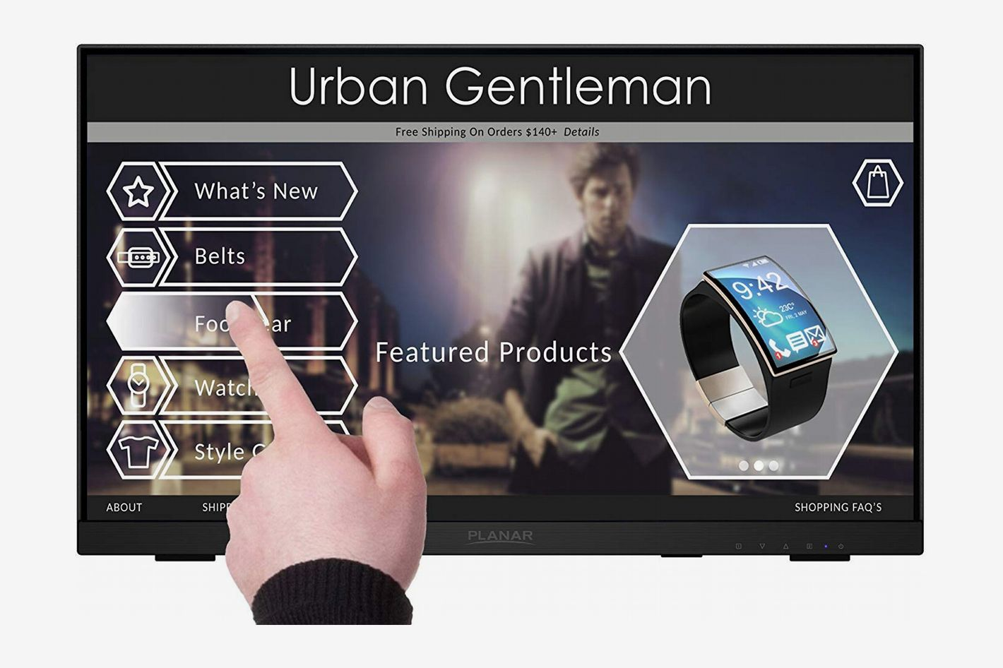 """Planar Helium PCT2235 Touch Screen 22"""" Full HD Resolution Monitor"""