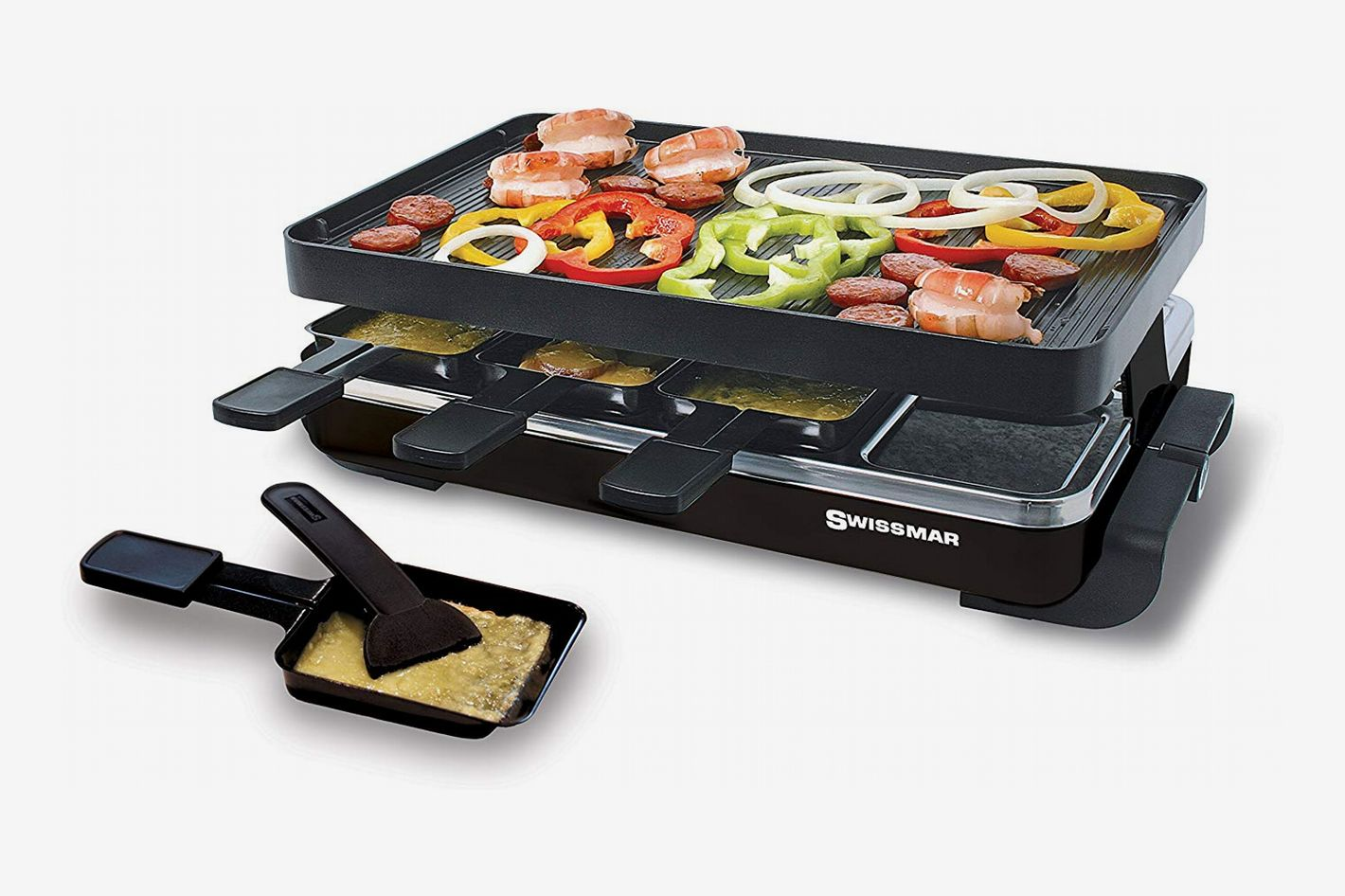 Swissmar KF-77041 Classic 8-Person Raclette With Reversible Cast Aluminum Non-Stick Grill Plate/Crepe Top
