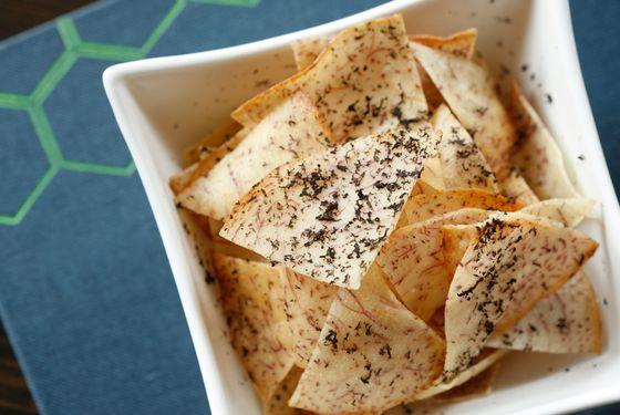 Truffle taro chips.