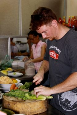 Gallagher, at work in Vietnam.