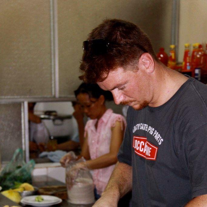Gallagher, at work in Vietnam.