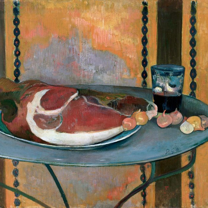 Paul Gaugin's painting of ham, for The Strategist's guide to knives.