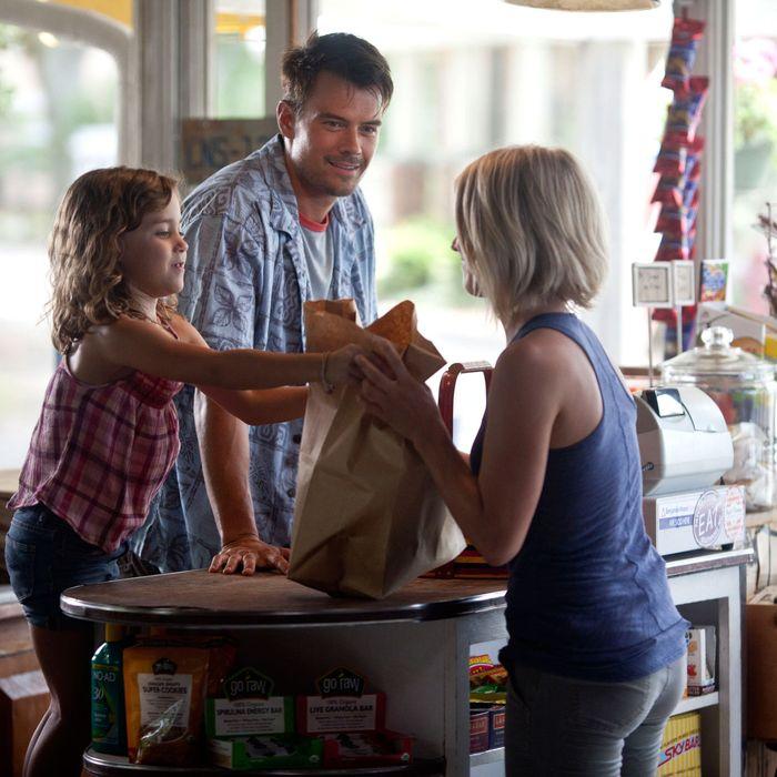 (Left to right.) Mimi Kirkland, Josh Duhamel and Julianne Hough star in Relativity Media's