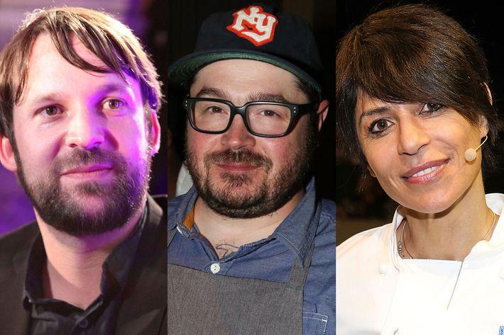 René Redzepi, Sean Brock, and Dominique Crenn.