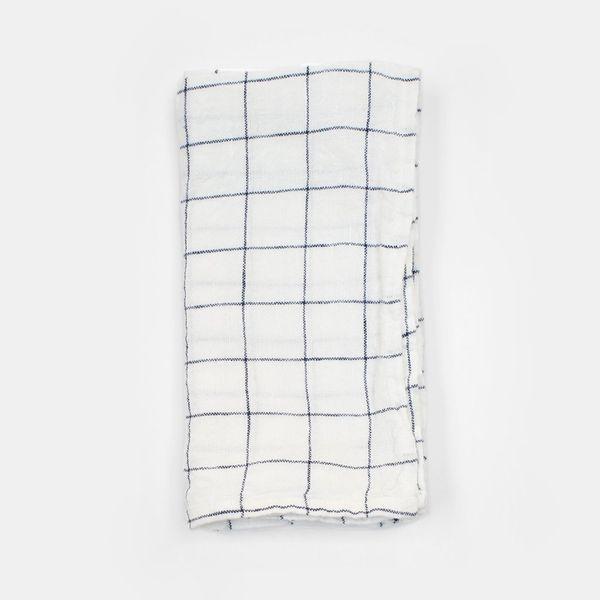 Linge Particulier Linen Napkin, Navy Check