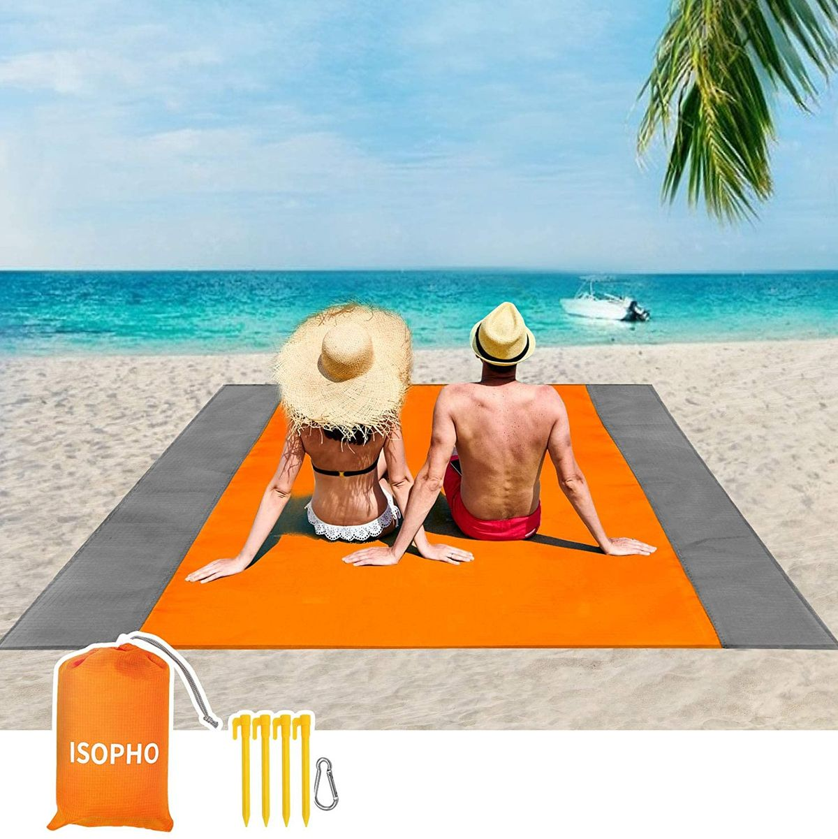 Beach Blanket Sand Proof Lightweight Sand Mat Outdoor Blanket Picnic Travel  US